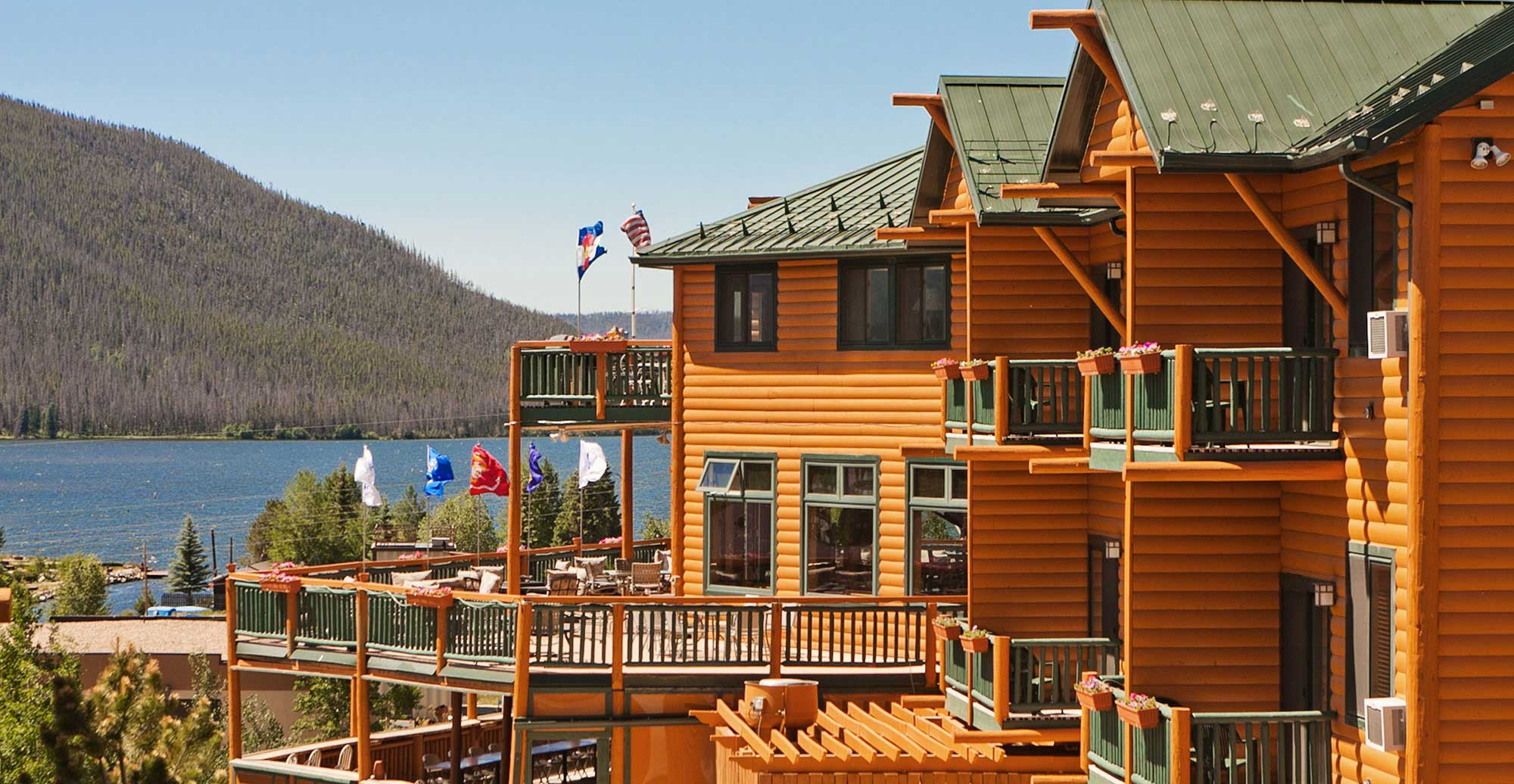 Lodge Exterior and Lake